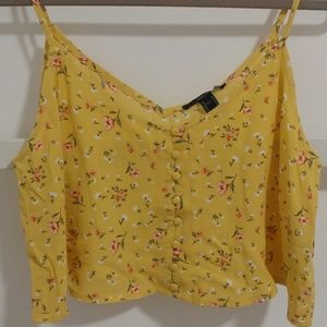 Forever 21 Cropped Loose Floral Tank